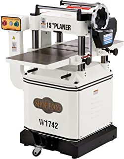SHOP FOX W1742 15-inch Planer with Cast Iron In/Out Feed