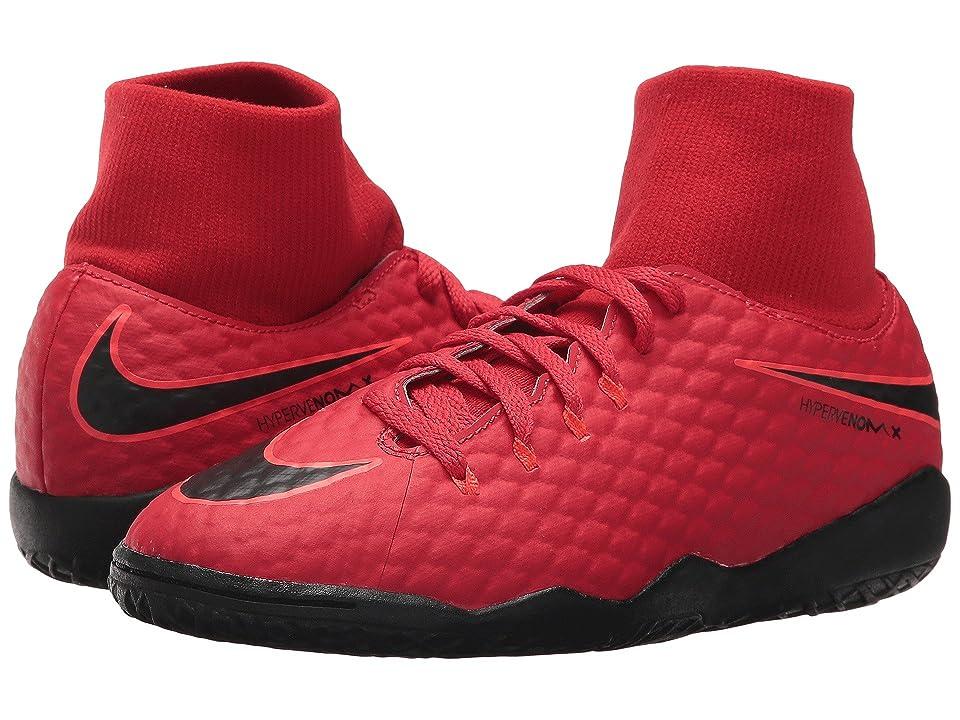 Nike Kids HypervenomX Phelon III Dynamic Fit IC Soccer Shoe (Little Kid/Big Kid) (University Red/Black/Bright Crimson) Kids Shoes