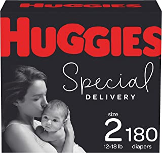 Hypoallergenic Baby Diapers Size 2, 180 Ct, Huggies Special Delivery