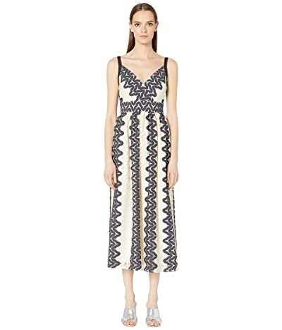 Kate Spade New York Sand Dune Lace Midi Dress (Black/Cream) Women