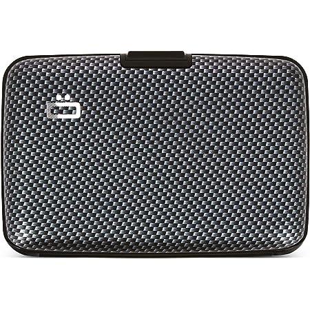 Ögon Smart Wallets - Cartera de Aluminio Stockholm - Tarjetero RFID antirrobo - Capacidad 10 Tarjetas y Billetes (Efecto Carbono / Tejido Fino)