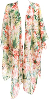 tropical floral swim cover up