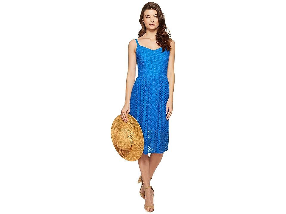 kensie Open Mech Lace Dress KS4K7686 (Vivid Blue) Women