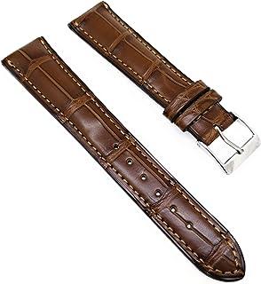 Louisiana Kroko - Cinturino per orologio da polso, 20/16 mm, colore: Marrone