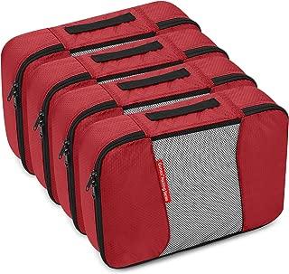 Gonex Packing Cubes Travel Organizer Cubes for Luggage 4xMedium Red