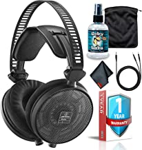 Audio Technica ATH-R70x Professional Open-Back Reference Headphones with Cleaning Kit,Soft Carrying Case and 1-Year