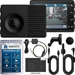 Garmin 56 HDR High Definition Dash Cam Bundle | 1440P QHD with HDR GPS Voice Control and WiFi | Hardwiring Kit and Installation Kit Included (New 2019)