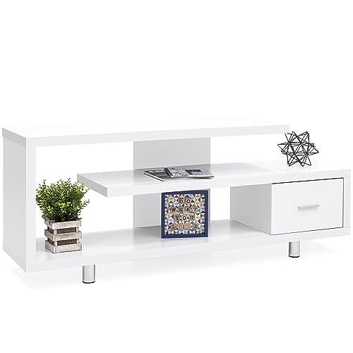 Admirable Modern White Tv Stands Amazon Com Evergreenethics Interior Chair Design Evergreenethicsorg