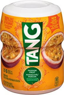 Tang Passion Fruit Powdered Drink Mix, Caffeine Free, 18 oz Canister, Pack of 12