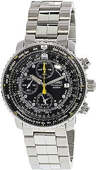 Seiko Men's Flight Alarm Chronograph Stainless Steel Watch + $45 Credit