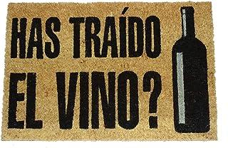 koko doormats Felpudo de Vino y Cerveza para Entrada de Casa Original y Divertido/Fibra Natural de Coco con Base de PVC, 4...