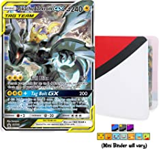 Pikachu & Zekrom GX Tag Team SM168 - Ultra Rare Foil Holo with Totem World Card Protector Mini Binder Collectors Album - Compatible with Pokemon Cards - Sun and Moon Team Up Black Star Promos