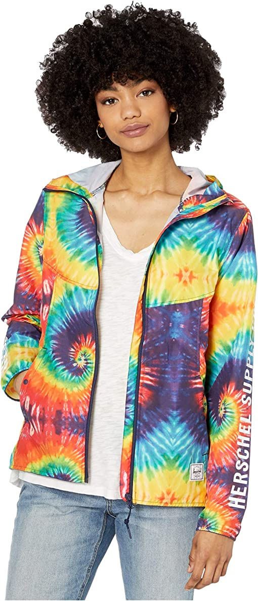 Sleeve Print Rainbow Tie-Dye