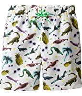 Stella McCartney Kids - Taylor Swim Sticker Print Swim Shorts (Toddler/Little Kids/Big Kids)