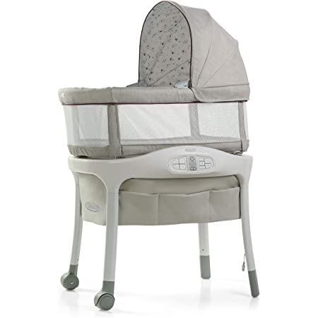 Graco Sense2Snooze Baby Bassinet with Cry Detection Technology and Responds to Baby's Cries to Help Soothe Back to Sleep, Roma