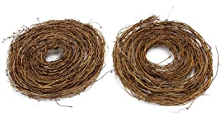 MomokoPeng 2 Pcs Grapevine Twig Garland 12 Feet Natural Twig Grapevine for Holiday and Home Decor for Holiday and Home Decor (Yellow, 2)