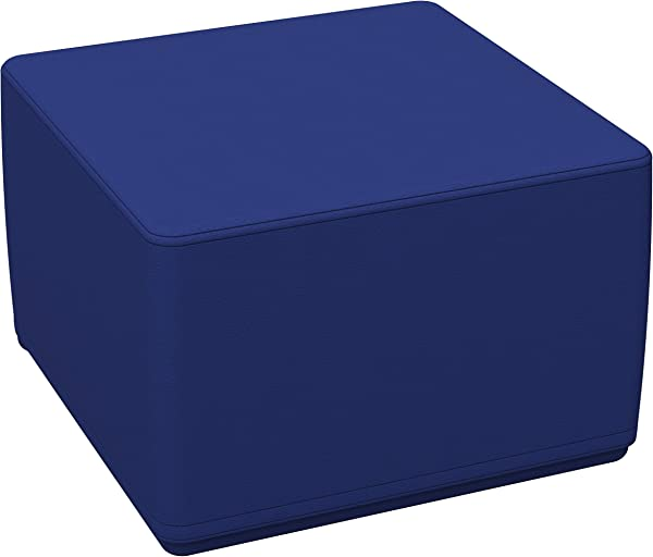 FDP SoftScape 18 Square Ottoman Collaborative Flexible Seating For Kids Teens Adults Furniture For Classrooms Libraries Offices And Home Junior 12 H Blue