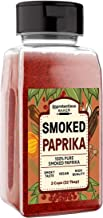 Smoked Paprika (2 cups) A Flavorful Ground Spice Made from Dried Red Chili Peppers Wood Smoked for a Strong & Smoked Flavor, Convenient Shaker Bottle