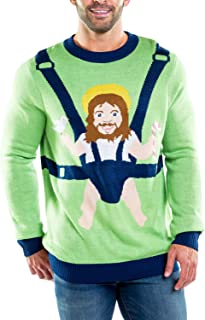 Men's Sweet Baby Jesus Ugly Christmas Sweater - Funny...