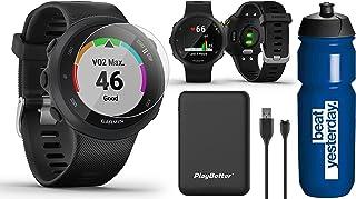 Garmin Forerunner 45 (Black) Running GPS Watch Runner Bundle   +Garmin Water Bottle, HD Screen Protectors & PlayBetter Por...