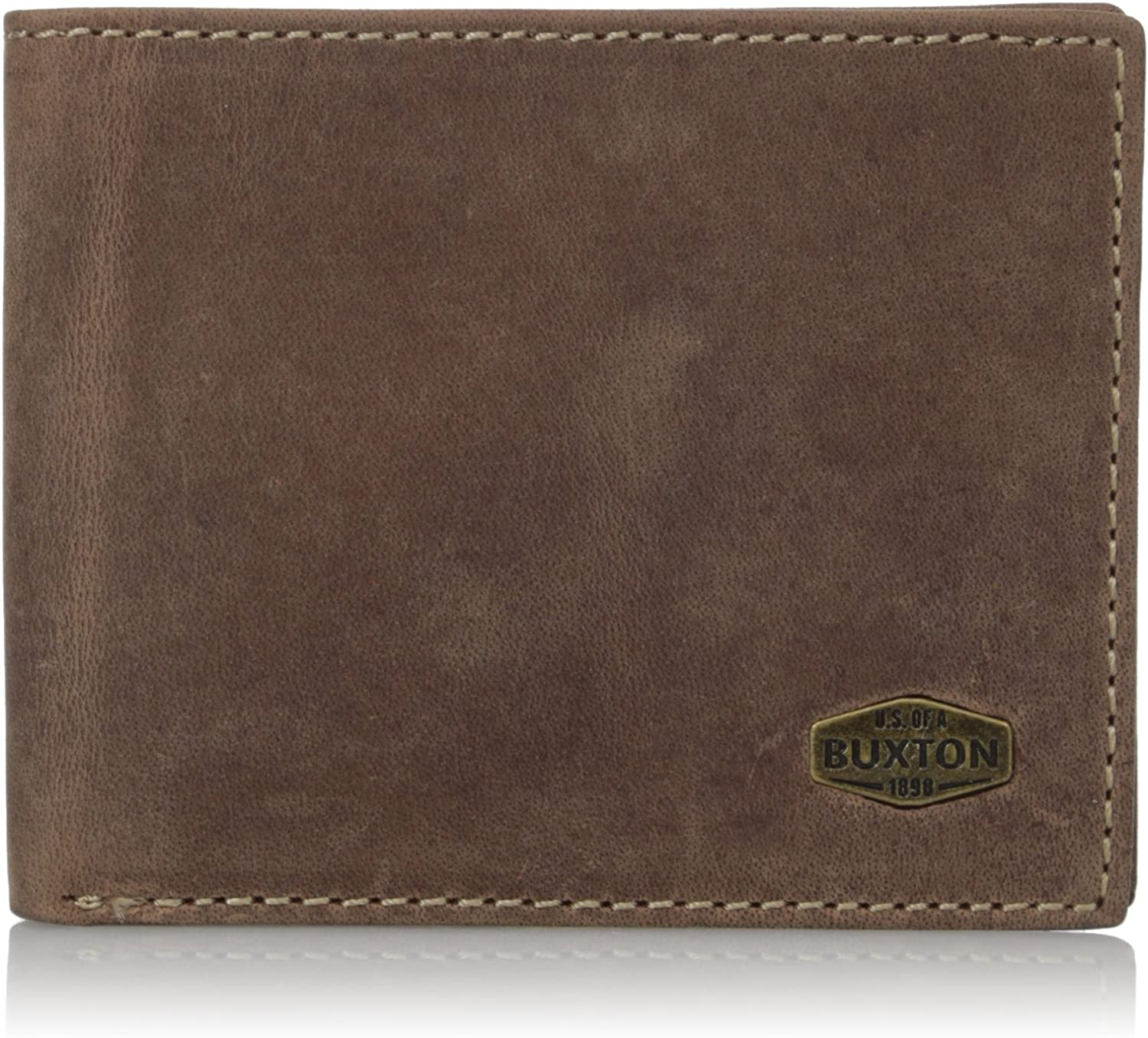 Buxton Men's Expedition RFID Blocking Leather Slim Wallet