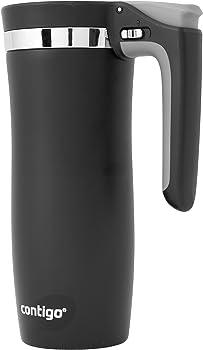 Contigo 16 Ounce Autoseal Vacuum Insulated Stainless Steel Travel Black Mug