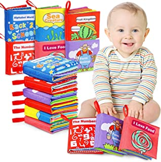 ANEAR Cloth Books Baby, My First Non-Toxic Soft Cloth Book, Educational Toys Gifts for First Year 1 Year Old Babies Infant...
