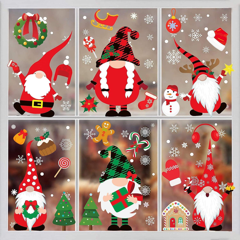 Christmas Phoenix Mall Window Clings-Christmas Stickers 316PCS Daily bargain sale Christm
