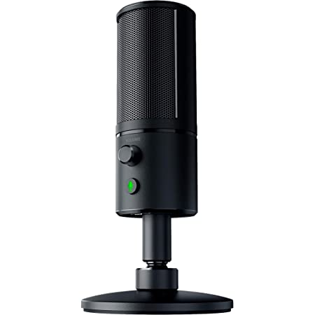 Razer Seiren X USB Streaming Microphone: Professional Grade - Built-In Shock Mount - Supercardiod Pick-Up Pattern - Anodized Aluminum - Classic Black