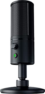 Razer Seiren X USB Streaming Microphone: Professional Grade – Built-In Shock Mount..
