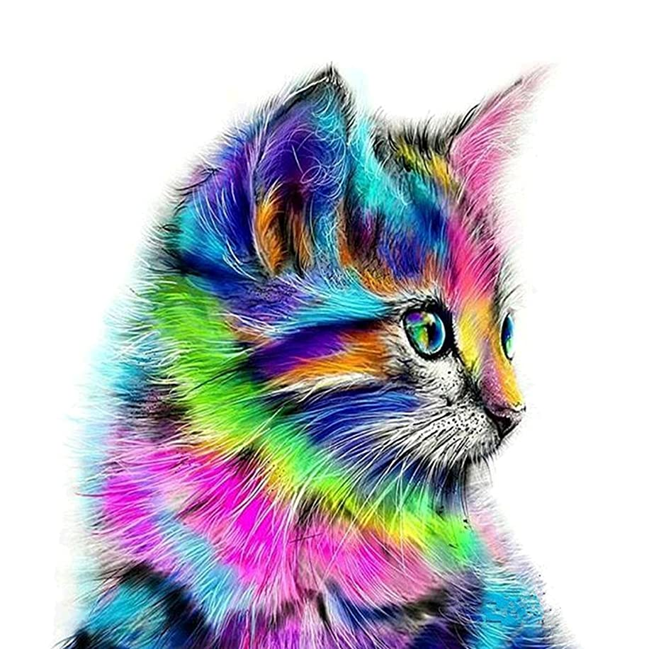 DIY Diamond Art and Craft Painting with Diamonds Diamond Dotz Kits for Home Wall Decor (Cat, 11.8x15.7Inch)