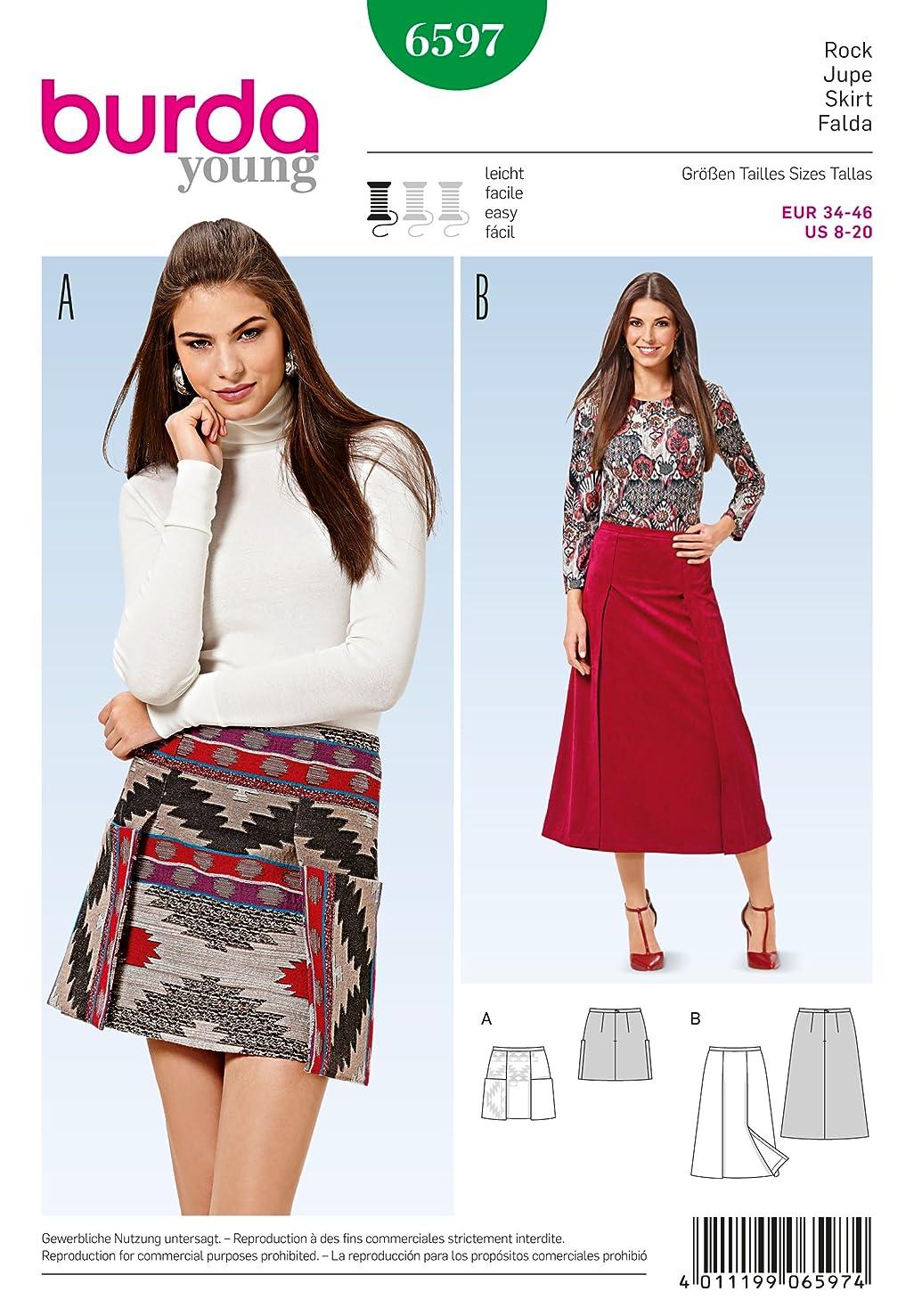 Burda b6597?Skirt Sewing Pattern Paper 19?x 13?x 1?cm White