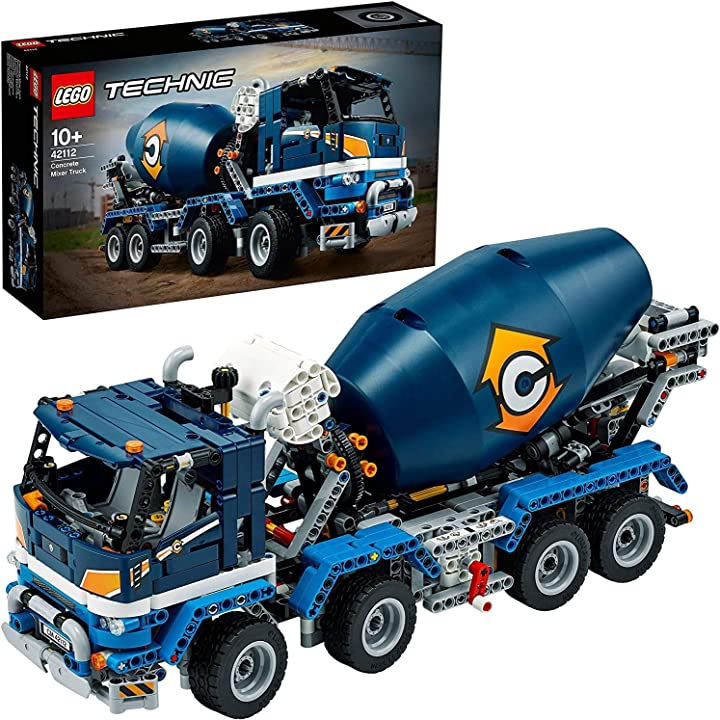 Betoniera lego technic giocattolo, set di costruzioni per ragazzi +10 anni e appassionati di modellismo,42112