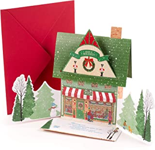 Hallmark Pop Up Christmas Card with Lights and Sound (Toy Shop, Plays Jolly Old Saint Nick)