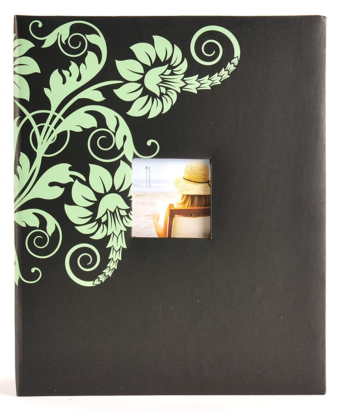 2UP 400 PKT Floral Accents and Framed Front Photo Album
