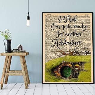 wall art decor fantasy inspired by Lord of the rings hobbit Vintage book page art decorative modern art wall art print,