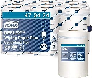 Tork Reflex 473474 Papier d'essuyage multi-usages Advanced, compatible avec le système M3 / 2 plis - 67m x 19,4cm - lot de...