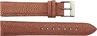 TELLUS Quick Release Black/Brown/Red/Blue/White/Yellow/Pink Galuchat Watch Band Butterfly Buckle, 18/20/22mm Strap
