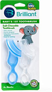 Baby Buddy Baby's 1st Toothbrush Teether-Innovative 6-Stage Oral Care System Grows With Your Child-Stage 4 for Babies/Todd...