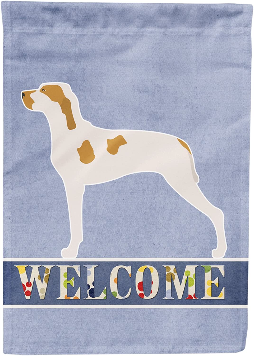 Caroline's Treasures BB8272CHF Ariege Pointer Welcome Canvas House Flag, Multicolor