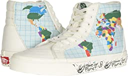 (Save Our Planet SK8-Hi) Classic White/Multi