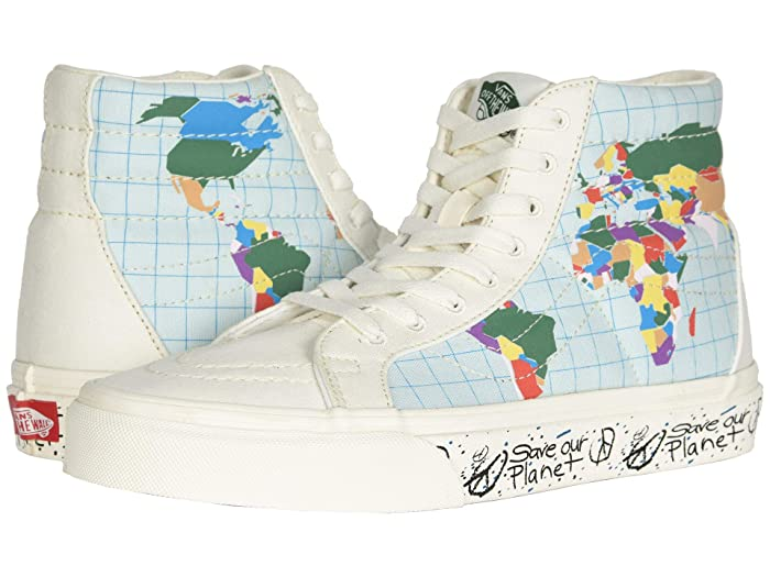 Vans   x Save Our Planet Sneaker Collab ((Save Our Planet SK8-Hi) Classic White/Multi) Athletic Shoes