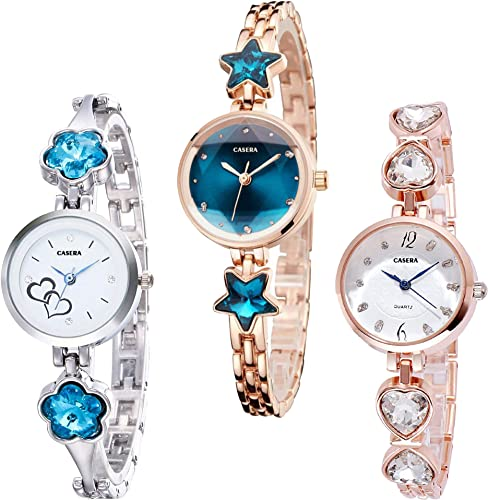 Metal Strap Analogue Multicolour Dial Women s Watches Bangle Combo Pack of 3