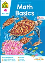 School Zone - Math Basics 4 Workbook - 64 Pages, Ages 9 to 10, Grade 4, Multiplication, Division Symmetry, Equivalent Fractions, and More (School Zone I Know It!® Workbook Series)
