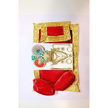 NS LADOO Gopal MOTI HAR MUKUT Set with Free GADDI TAKKIYA Set || Stone MALA/HAR for BAL Gopal || SHRINGAR Set ||HAR MUKUT Set || Krishna || THAKURJI || BAL Gopal || LALA || MORPANKH MUKUT & HAR Set||