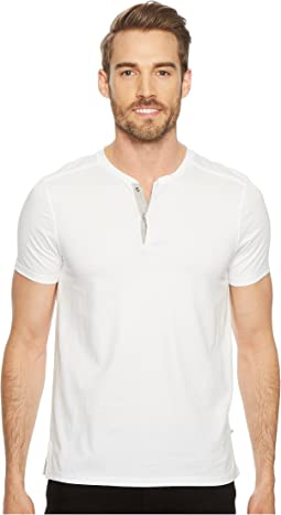 Shoulder Piping Hidden Placket Henley
