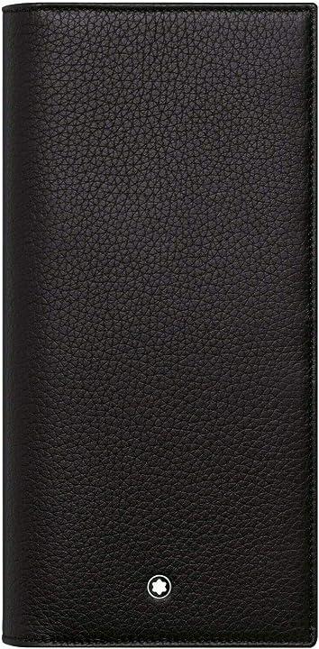 portafoglio lusso montblanc meisterstück soft grain long wallet, black, leather, 9 c/c 126256 b0888t4wcj