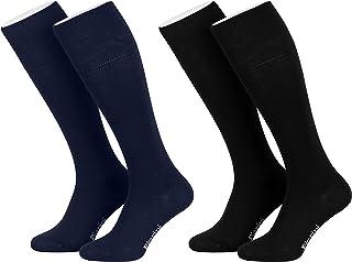 Piarini, 4 Pares de calcetines largos de ejecutivo - Alto contenido en algodón - Con elastano - Sin elástico