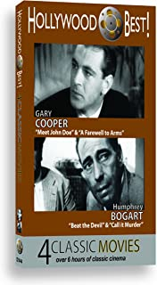 Hollywood Best! 4 Classic Films starring Gary Cooper and Humphrey Bogart!