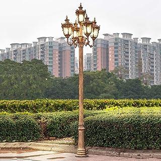 5 lumières européen traditionnel victorien rétro réverbère IP55 étanche extérieur poteau de colonne haut poteau éclairage ...